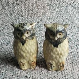 🧡3/$20 Owl Boho Set Little Decor Painted Figures